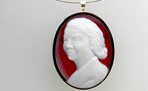 white-red-cameo-portrait of grandma