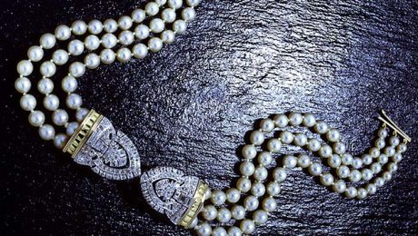 Pearl-and-diamond-necklet