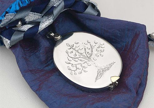 Tree of Life Engraved on Silver Locket