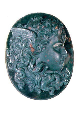 Blood-stone Antique Cameo