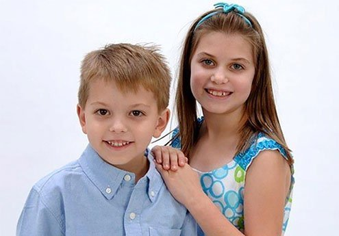 Brother and Sister Portrait Photo