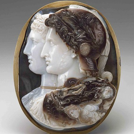 Roman Hardstone Cameo Brooch with 4 Layers