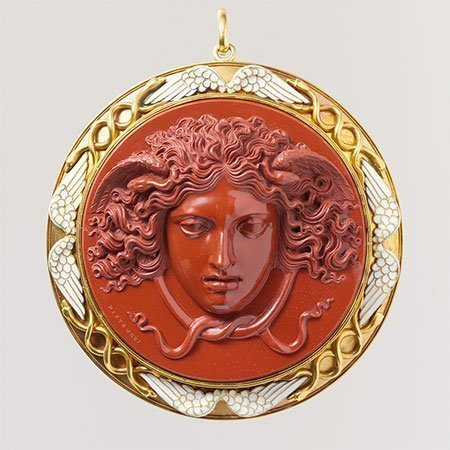 Red Jasper Antique Cameo by Pistrucci