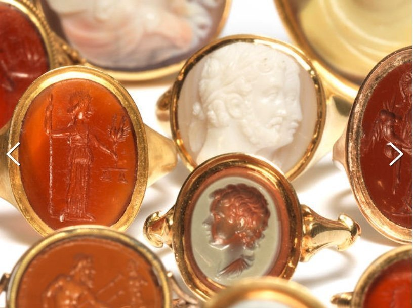 Ceres Collection Cameo and Intaglio Rings