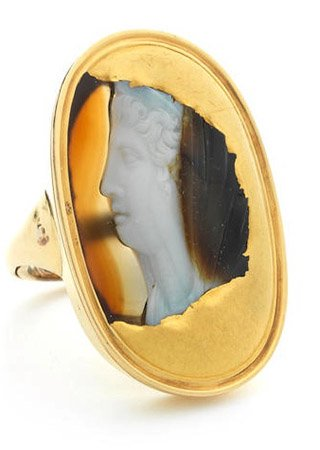 Roman Cameo Lady Ring-side-third