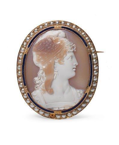 Hardstone Cameo brooch of Perseus