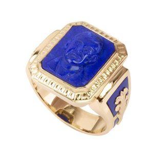 cameo-ring-lapis-lazuli-