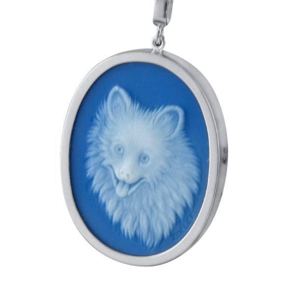 pet-portrait-dog-blue-agate-cameo-
