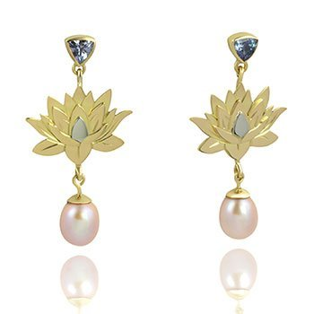 tanzanite-gold-pearl-lotus-flower-earrings-