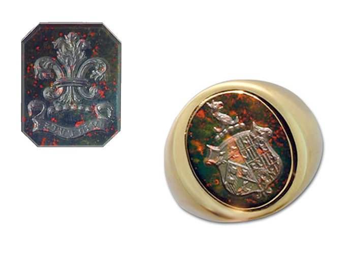 family-crest-and-shield-bloodstone-signet-ring