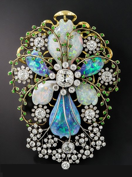 art-nouveau-black-opal-and-white-opal-diamond-brooch-