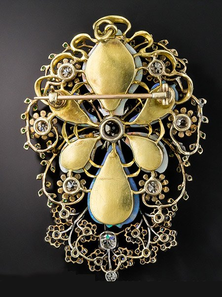 art-nouveau-opal-and-diamond-brooch-back-tall