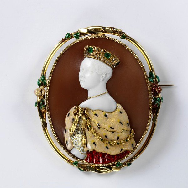 commesso cameo of Victoria