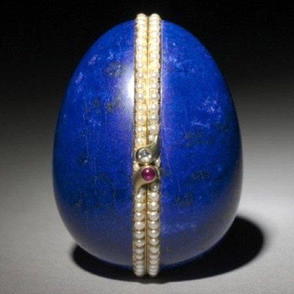 Faberge Lapis Lazuli Easter Egg-sq