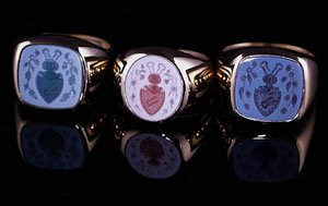 3 crest rings for a family