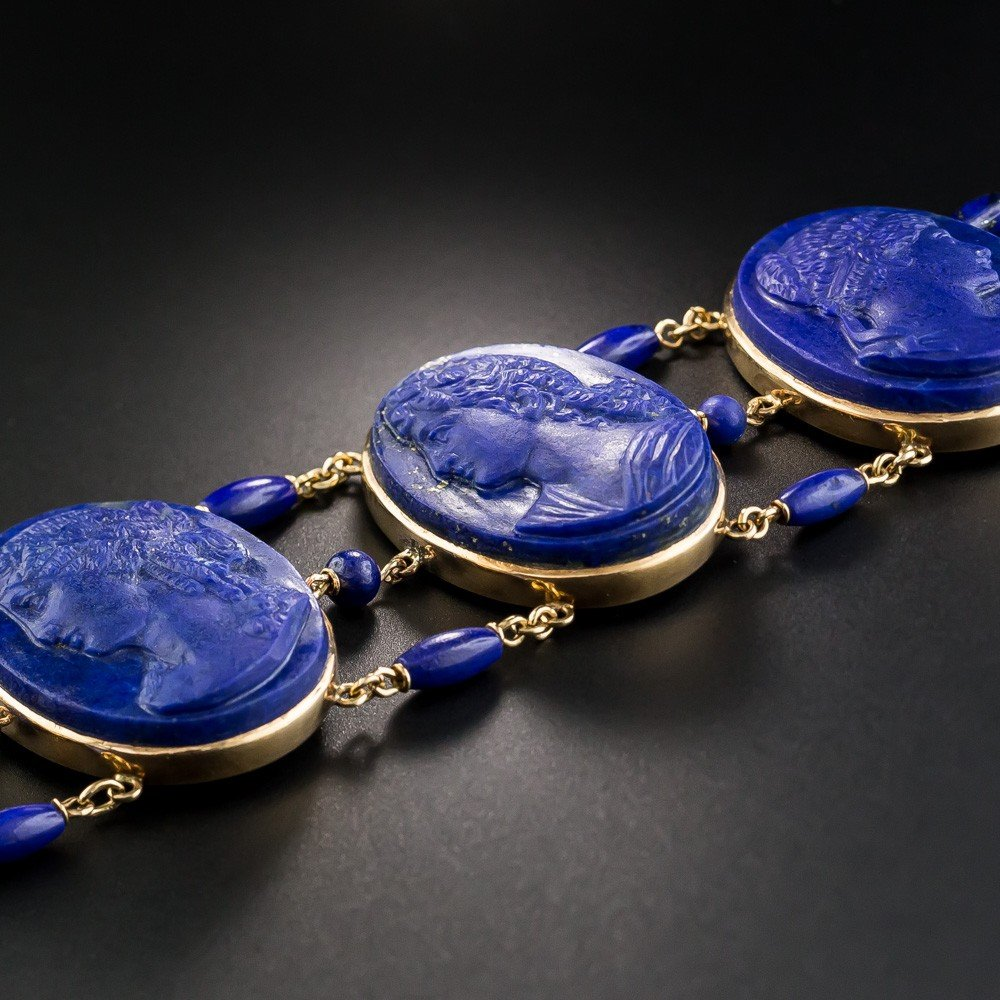 victorian-lapis-lazuli-cameo-bracelet-side