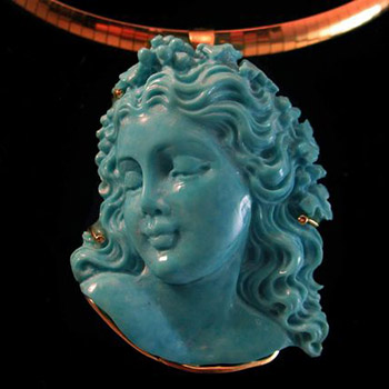 turquoise cameo