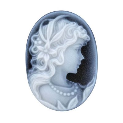 ultrasonically carved agate cameo